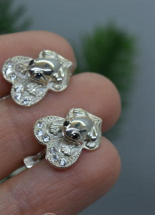 Серебряные #серьги #сережки #жабки #лягушки #для привлечения денег 925
