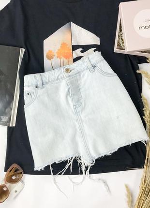 Джинсовая юбка мини с необработанным краем  ki1950021  asos