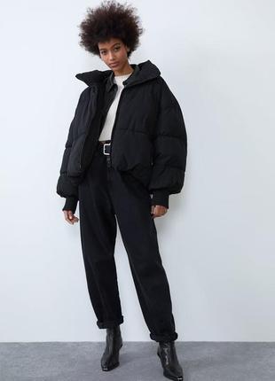 Zara новая коллекция! стильный пуффер zara