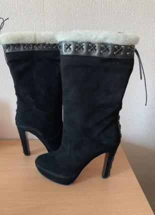 Сапоги,ботинки замш размер 39 новые!