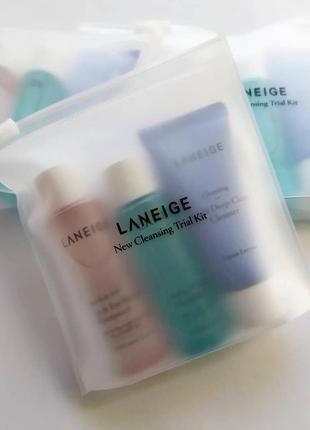 Набор ланеж laneige new cleansing kit li deep clean cleanser для очищения кожи
