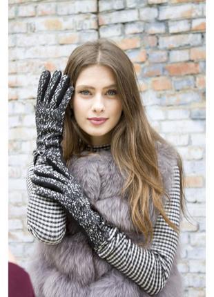 Перчатки сенсорные ,трикотаж, мех
