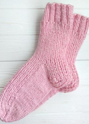 Теплые вязаные носки, ручная работа