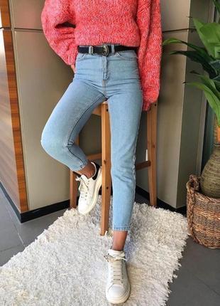 Джинсы mom. плотный джинс.