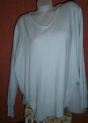 Пуловер шерсть кашемир мятный цвет