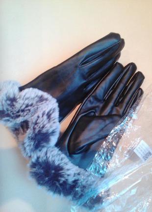 1+1=3 новые зимние женские перчатки, 7 размер