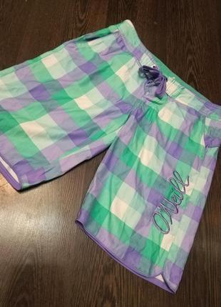 Фирменные удлиненные пляжные шорты