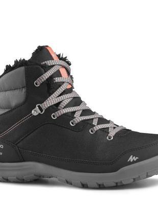 Женские зимние ботинки р. 36-42 sh100 warm mid quechua. франция