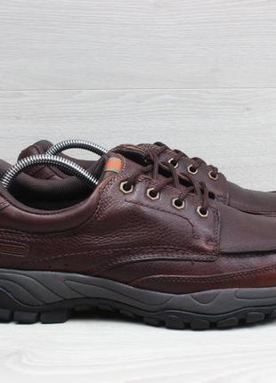 Кожаные мужские туфли / ботинки marks &spencer waterproof, размер 44