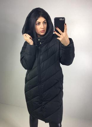 Зимние тёплое пальто / оверсайз