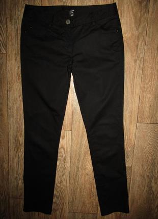 Черные зауженные брюки р-р 12 бренд h&m