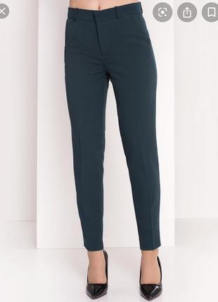 Темно-зелені брюки zara