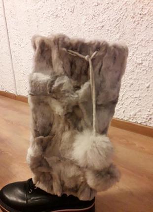 Унты из натурального меха арктической лисы