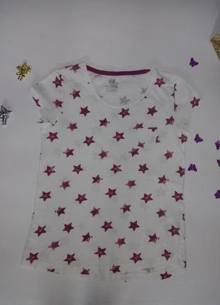 Стильная футболка в звезды от h&m