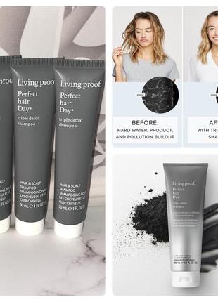 Living proof detox shampoo шампунь для комплексного ухода детокс кожи головы