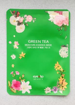 Увлажняющая тканевая маска с зеленым чаем eyenlip green tea moisture essence mask
