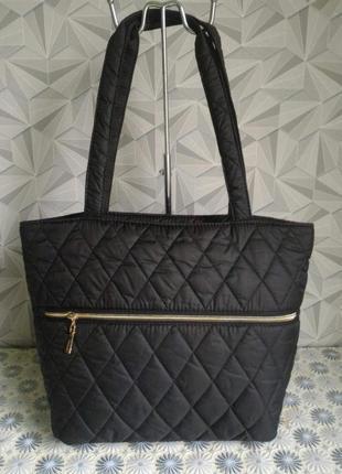 Стеганная сумка, цвет  черный