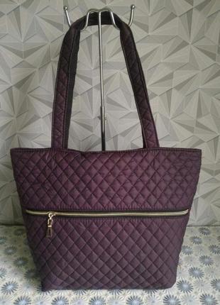 Стеганная сумка, цвет вино