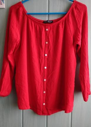 Топ, блуза, кофточка из жатой ткани большого размера 18uk
