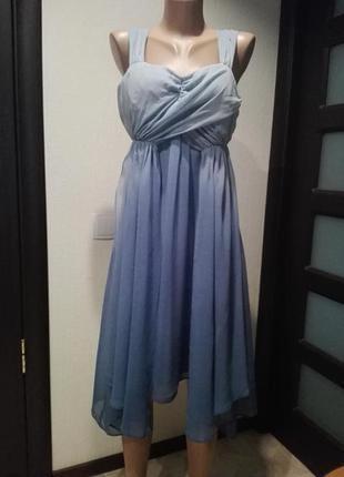 Платье сарафан тонкое крепдешиновое летящее тонкое