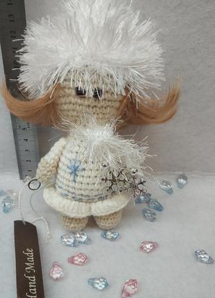 Брелок куколка снежинка 💞