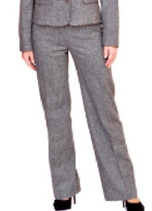 Классические твидовые брюки на подкладке, 67% шерсти