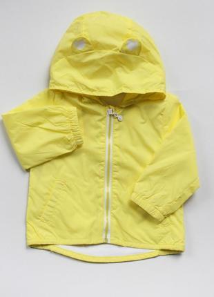 Яскраво-жовта крутезна вітровка з вушками від idexe 6 міс