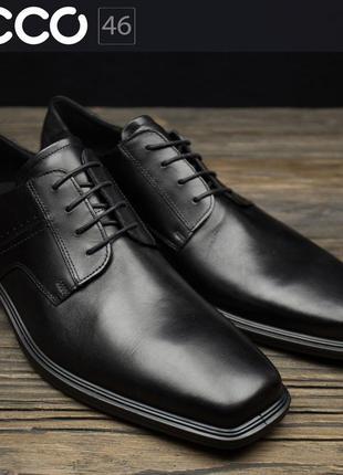 Мужские туфли дерби  ecco minneapolis 620124  оригинал р-46