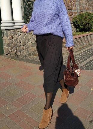 Красивейший свитер ажурной вязки оверсайз р. m l xl новый ручная работа