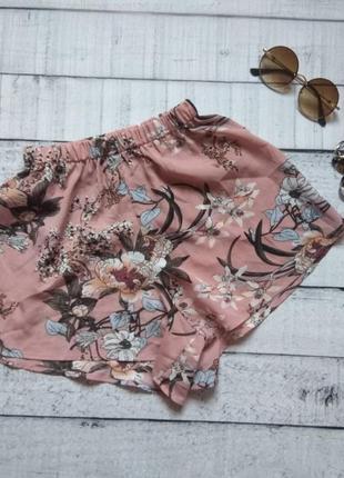 Трендовые шорты юбка в цветах