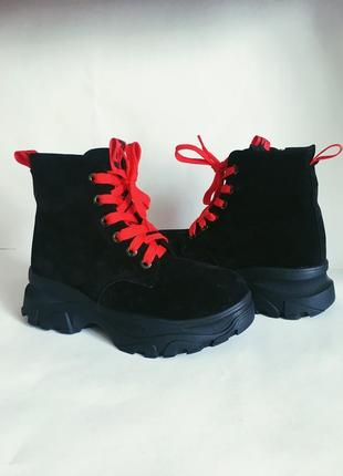 Ботинки натуральная кожа, замш зима