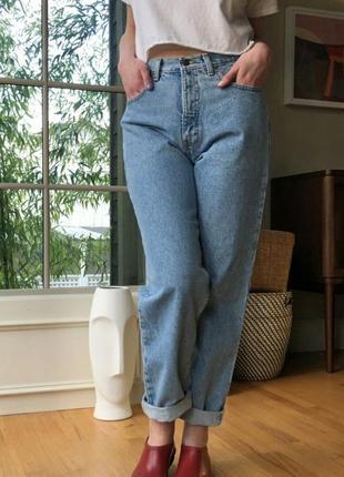 Мом джинсы высокая посадка бойфренды бананы eddie bauer