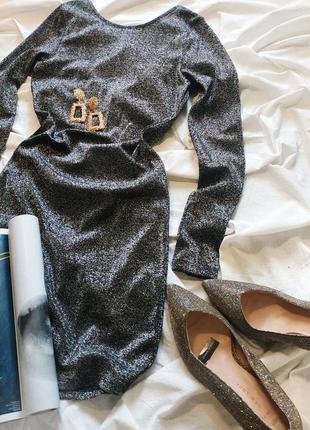 Новогоднее блестящее платье