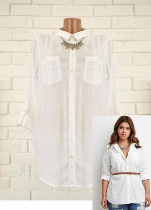 Белая рубашка из легкого хлопка george uk18 новая