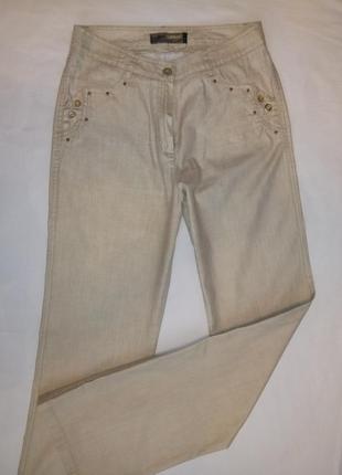 Нарядные брюки с золотым напылением