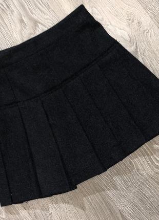 Тёплая шерстяная юбка от люкс бренда burberry