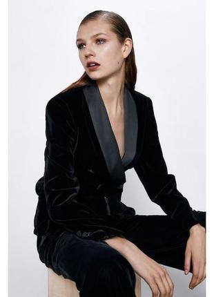 Zara пиджак бархат вельвет , xs