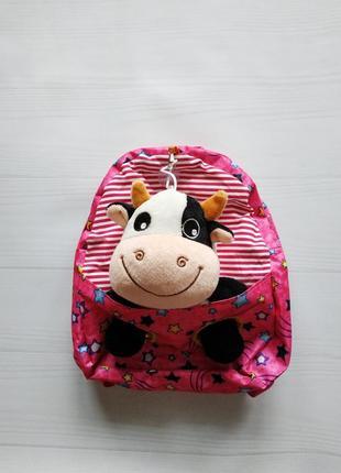 Детский рюкзак для девочки с мягкой игрушкой
