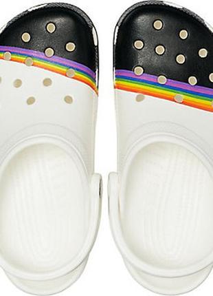 Сабо crocs classic rainbow