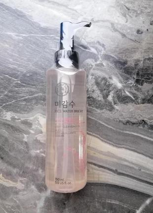 Гидрофильное масло для жирной кожи с рисом the face shop rice oil корейская косметика