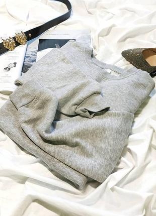 Базовый серый свитшот толстовка