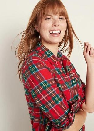 Женская фланелевая рубашка в клетку old navy  оригинал из сша