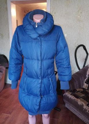 Теплючий зимний пуховик.пух/перо. amisu 44-46 р см.замеры