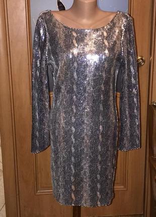 Платье в пайетках! платье на новый год!