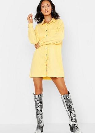 Boohoo. товар из англии. джинсовое платье рубашка в стиле оверсайз.
