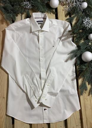 Хлопковая рубашка tommy hilfiger оригинал