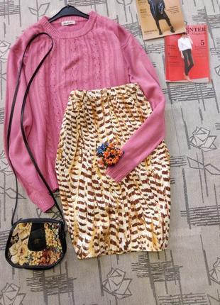 Распродажа!джинсовая юбка в стильный принт ,размер 10-12