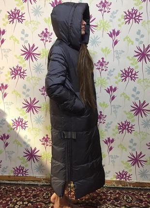 Длинный классный пуховик- одеяло
