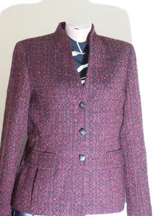 Роскошный пиджак в деловом стиле dana buchman 46-48 100% шерсть