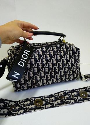 Женская сумочка диор из текстиля
